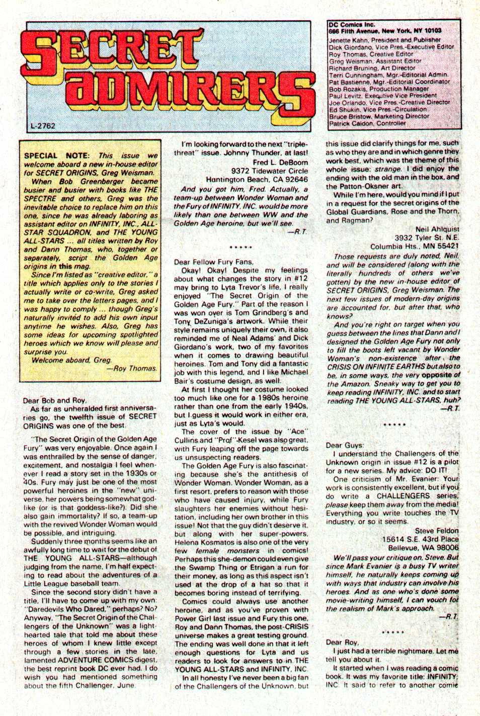 Read online Secret Origins (1986) comic -  Issue #17 - 42