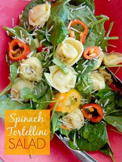 spinach tortellini salad (sweetandsavoryfood.com)