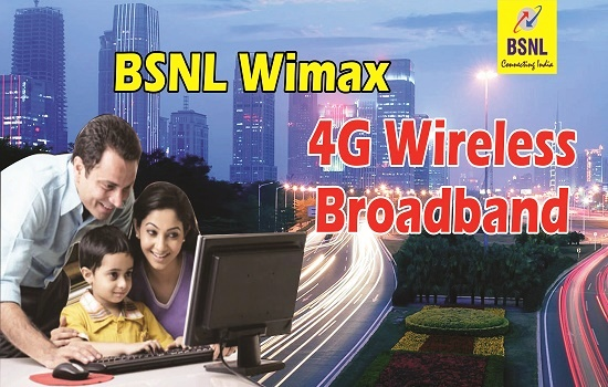 BSNL slashes monthly rental of unlimited WiMax broadband plan from ₹750 to ₹549 from 1st November 2017
