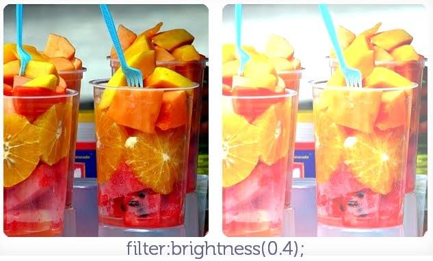 filter: brightness