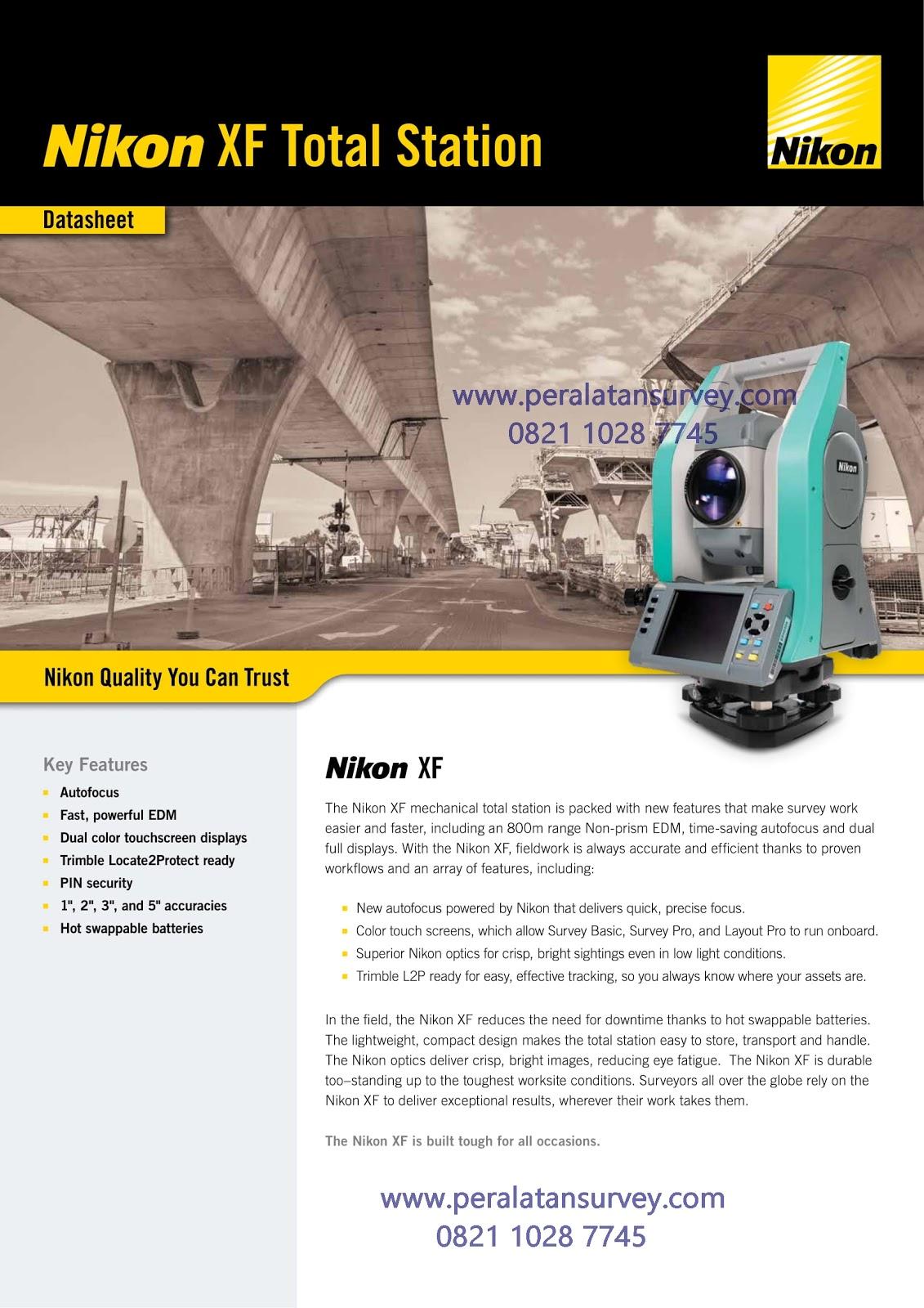 Brosur Total Station Nikon XF Series