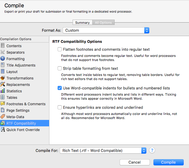Cogitations of a Semi-Pro Wordsmith: Compiling in Scrivener