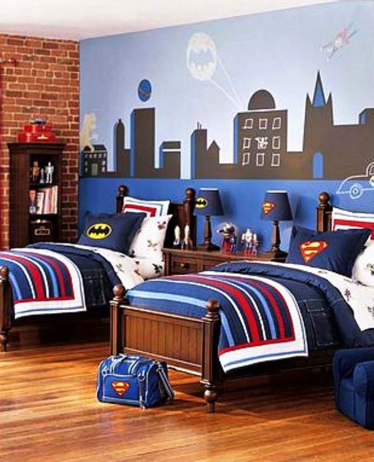 Bedroom Design For Kids Boys Nice Cheap Bedroom Sets Lighthouse Bedroom Decor Bedroom Decor Purple Gray: 60 Dekorasi Interior Kamar Tidur Anak Laki-Laki