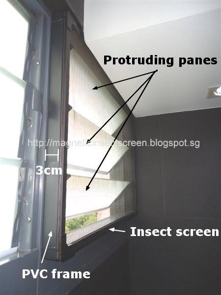 DIY Magnetic Insect Screen Singapore: Install on louvre window