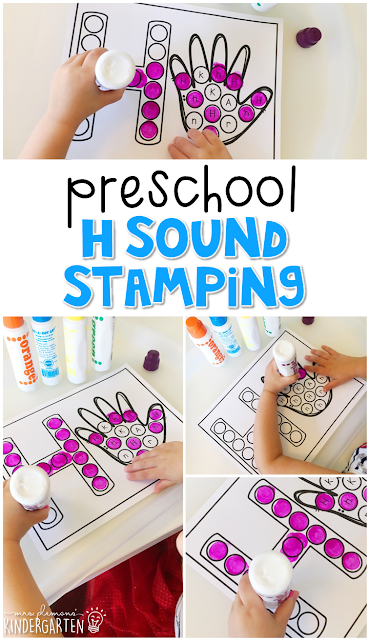 This letter h sound stamping is perfect for letter, sound, and fine motor practice with a healthy habits theme. Great for tot school, preschool, or even kindergarten!