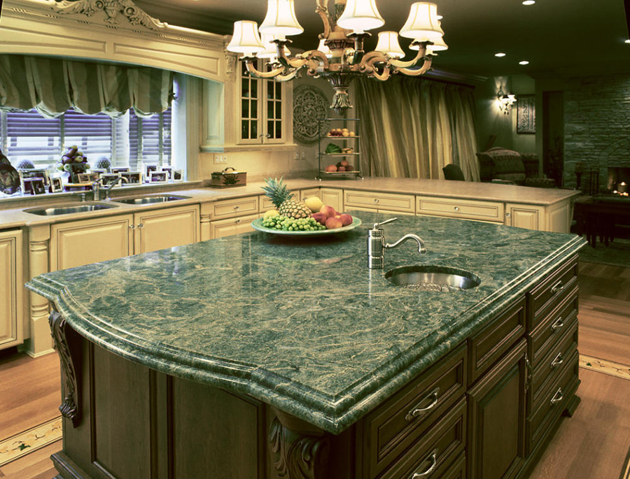 Emerald Green Granite Kitchen Countertop Ideas | Granite Book