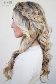 Half up half down braided blonde hair