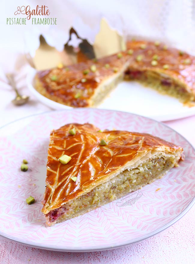 recette galette pistache framboise