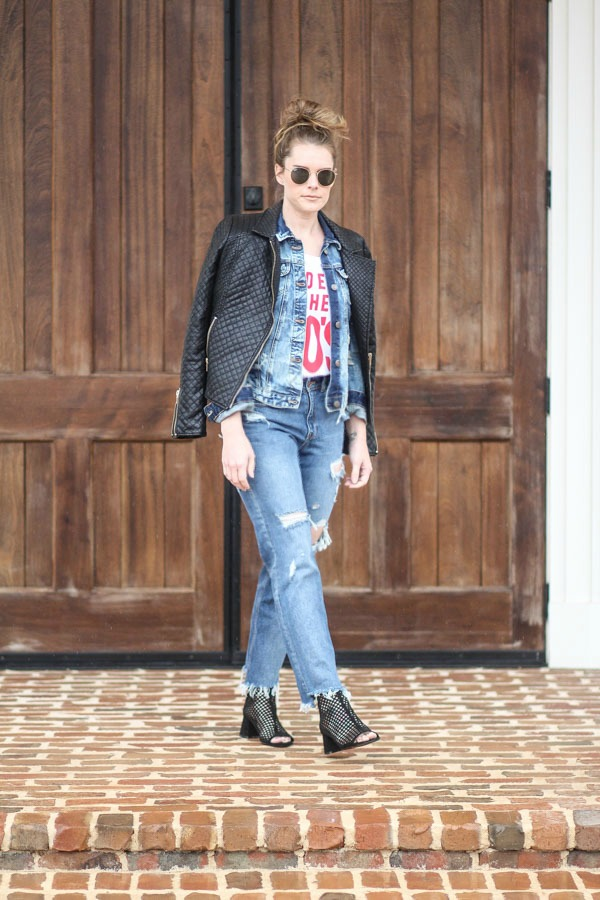 How to layer denim for fall