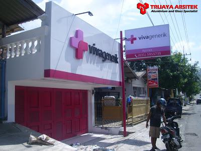Aluminium Composite Panel, Letter, Neon Box, Proyek Surabaya,