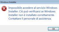errori Windows Installer