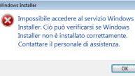 Risolvere errori di Windows Installer, di installazione e disinstallazione dei programmi