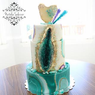 como hacer un geode cake natalia salazar