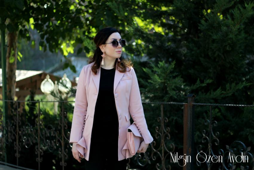alışveriş-Pembe Palto ve Pembe Ceket-simli stiletto