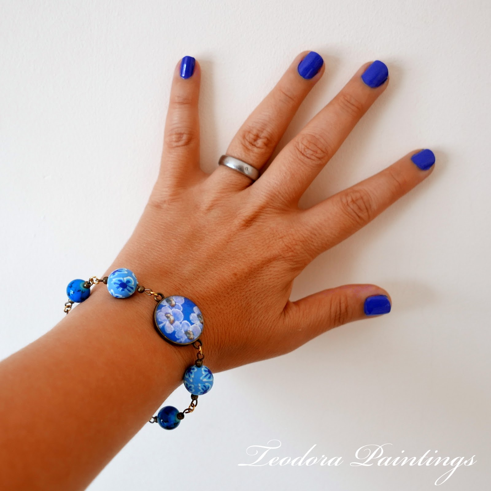 Teodora Paintings Colourful Nails For Colourful Bracelets