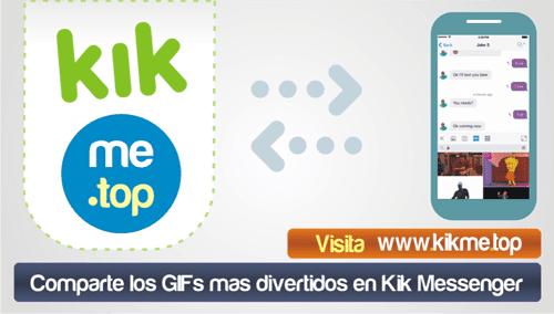 Comparte los GIFs mas divertidos en Kik Messenger