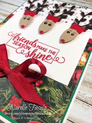 Use the Christmas Bulb Builder Punch to make the cutest reindeers. Just one of our amazing Christmas products. See the full range here - http://bit.ly/shopwithnarelle