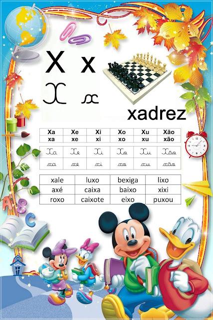Lista de Palavras com XA XE XI XO XU XÃO