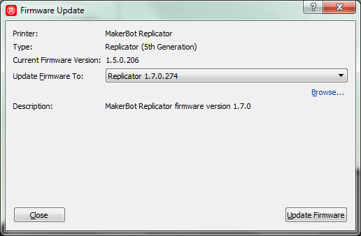 Updating Firmware | MakerBot Replicator 2 | MakerBot Support