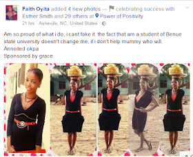 Meet Beautiful BSU Student Who Sells Okpa For Her Mum To Make A Living