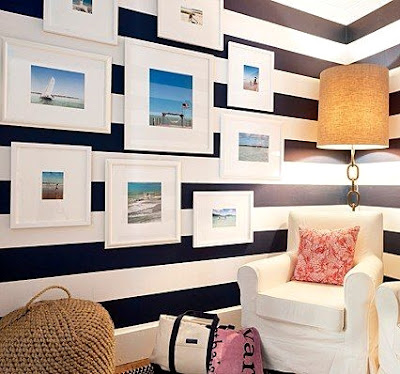 ocean art gallery wall idea