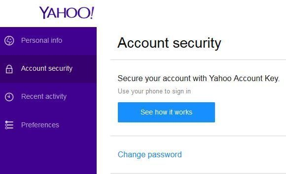 How to change your Yahoo password