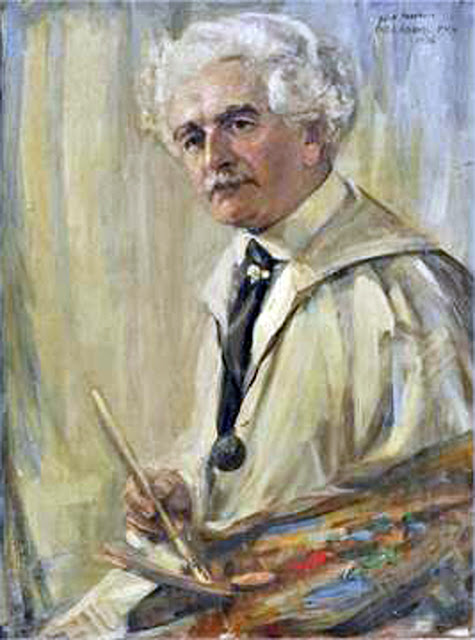 Adams Christopher, Self portrait, Portraits of Painters, Fine art