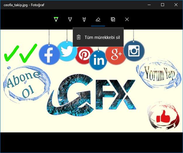 Windows 10 fotograflar çizim - www.ceofix.com