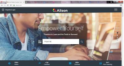 مواقع تعليمية - شرح كل ما يخص موقع Alison للكورسات الاونلاين