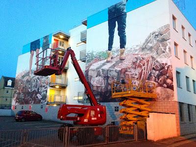 Nuart festival mural - Aberdeen