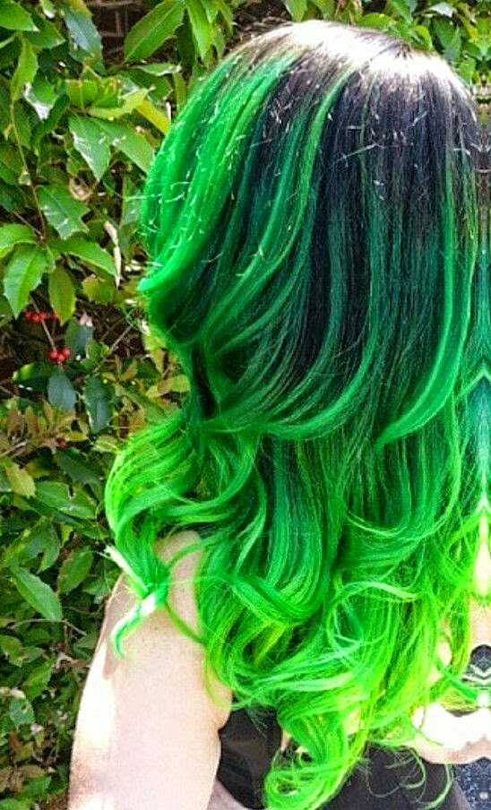 Green dyed hair