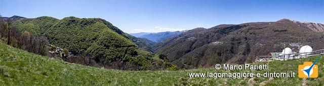 Panorama da Monteviasco con il lago maggiore e l'osservatorio astronomico