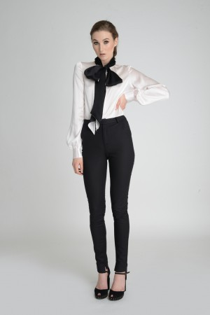 A white blouse and trousers
