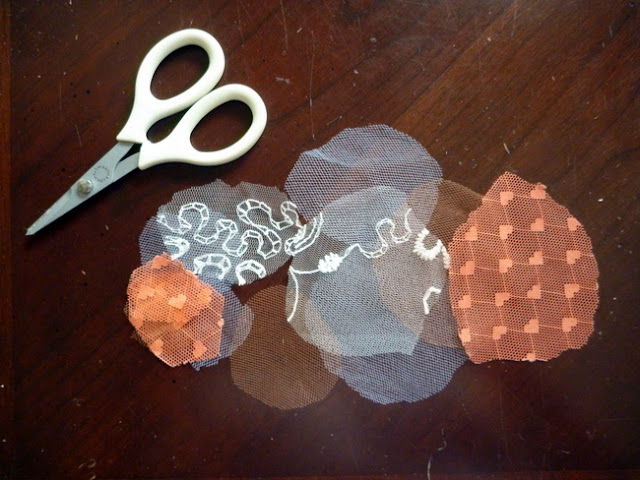 Pile of Cut Lace, Netting, and Tulle Circles