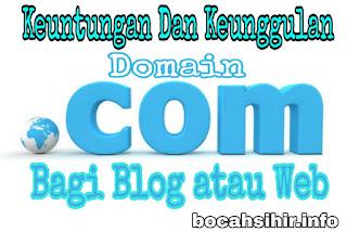 Keunggulan dan keuntungan menggunakan domain dot com