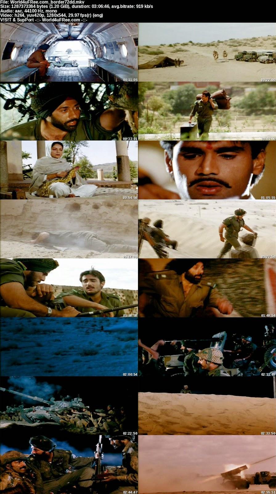 Border 1997 Hindi 720p Dvdrip 12gb