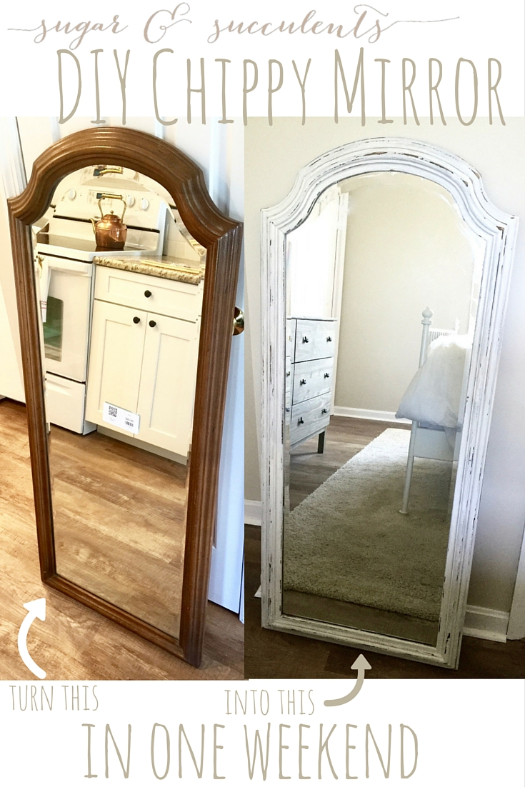 Diy Cottagefarmhouse Chippy Mirror Frame Everything Home Magazine