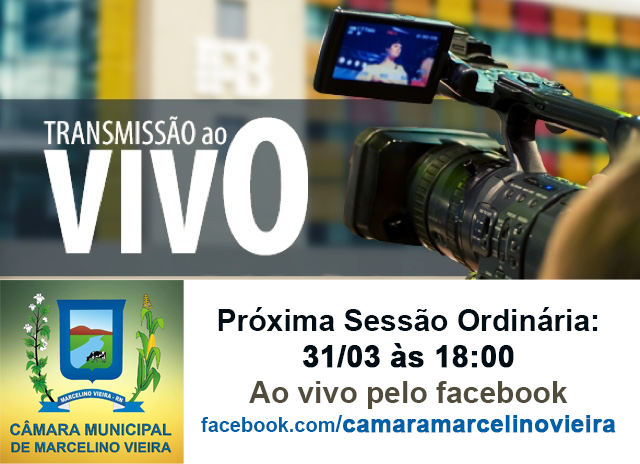 Câmara de Marcelino Vieira passará a transmitir ao vivo as sessões pela internet
