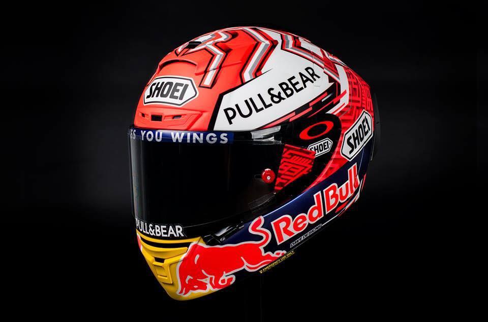 racing helmets garage shoei x spirit iii marc m rquez. Black Bedroom Furniture Sets. Home Design Ideas