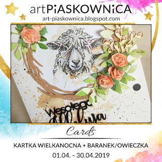 CARDS - kartka wielkanocna + BARANEK/OWIECZKA