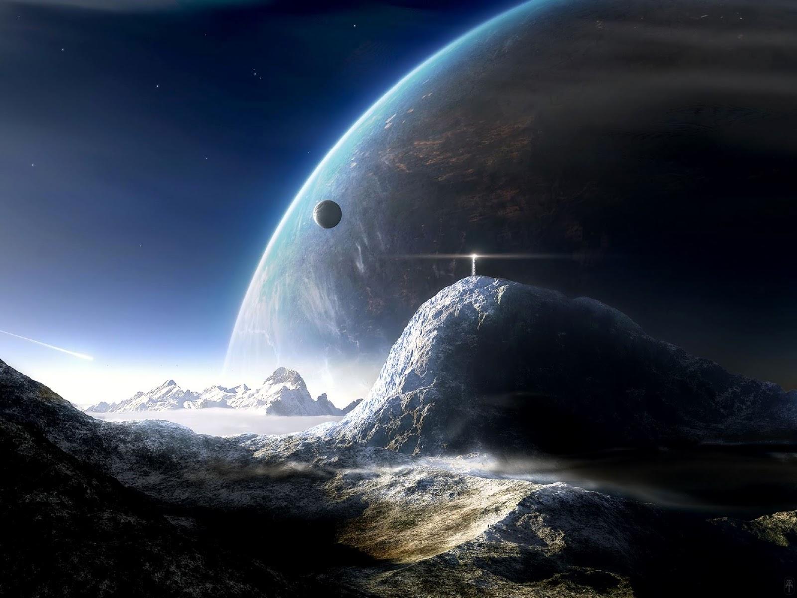 惑星から見た宇宙の画像