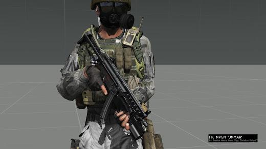 Arma 3用MP5 MODの MP5N 9MMAR