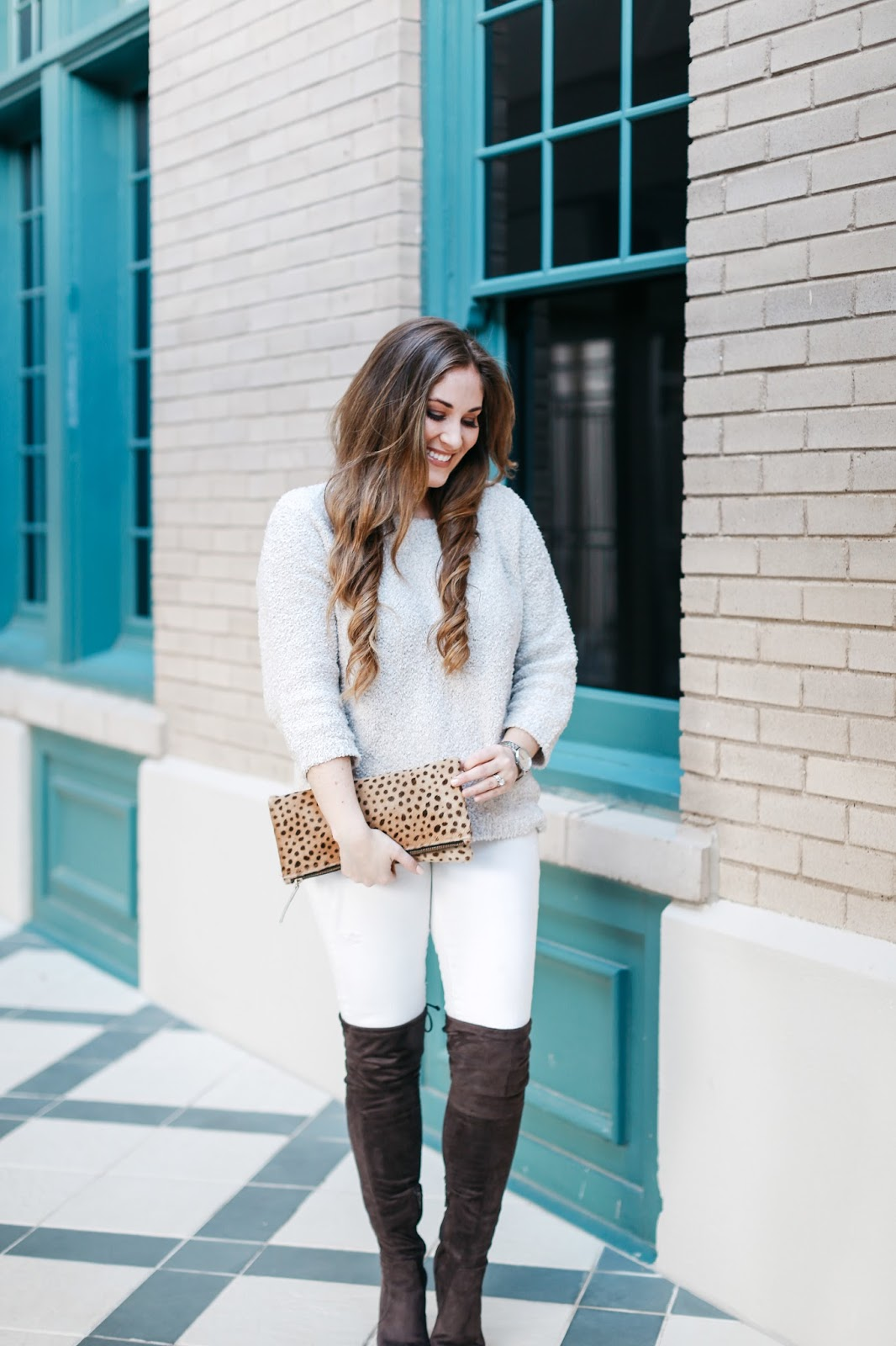 3 ways to wear winter white jeans