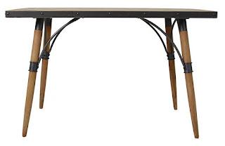 mesa madera y forja de cocina