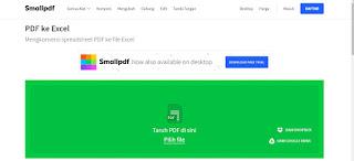 smallpdf conver dari pdf ke excel