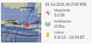 Lokasi Gempa, Sumber: www.bmkg.go.id
