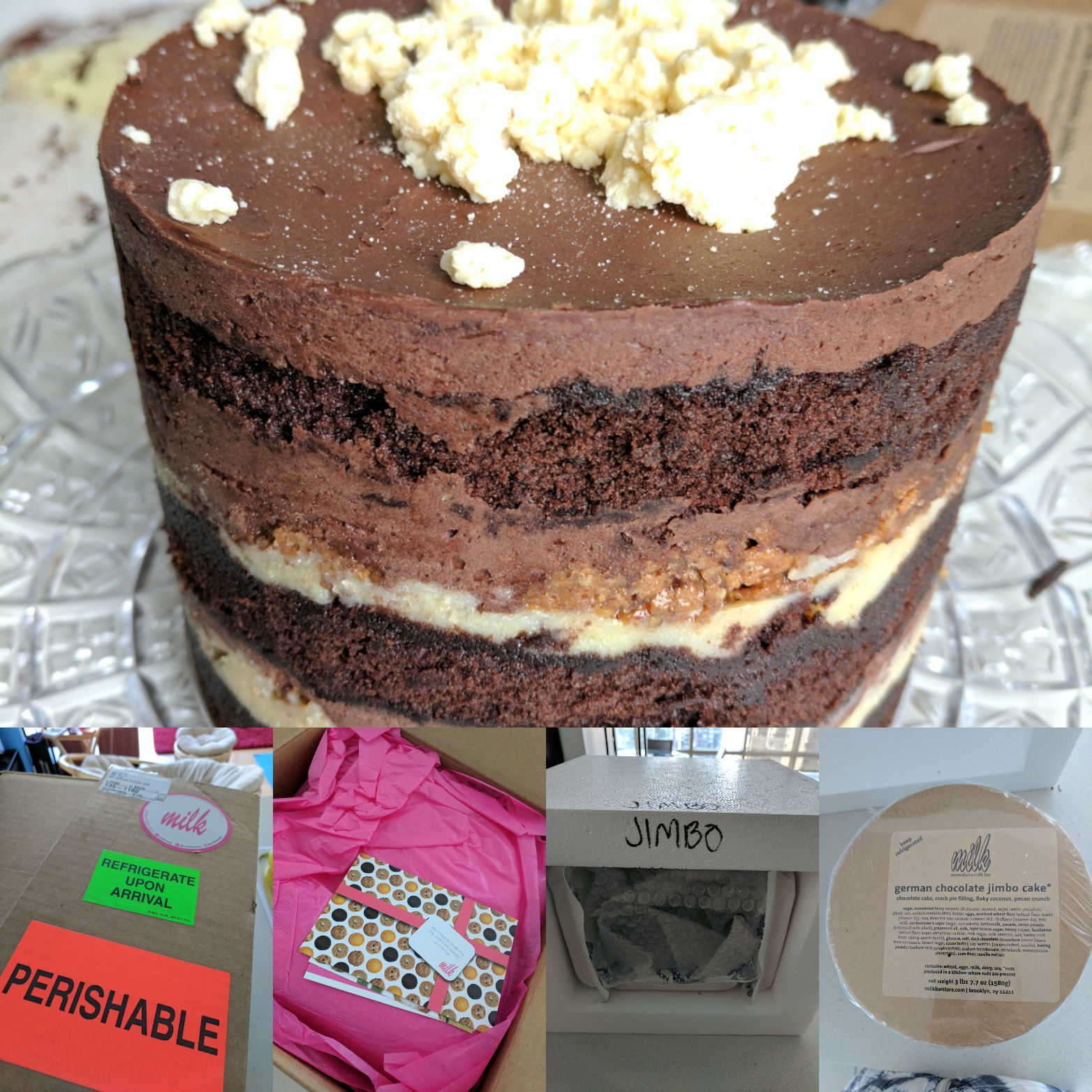 Excellent Julies Dining Club Cake Delivery From Momofuku Milk Bar Personalised Birthday Cards Veneteletsinfo