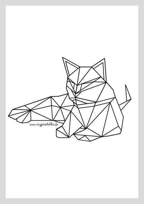 Funny cats: Geometric cat