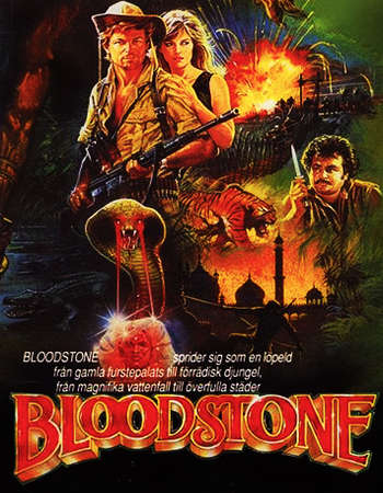 Poster Of Bloodstone 1988 Dual Audio 480p DVDRip [Hindi - English] Free Download Watch Online Worldfree4u