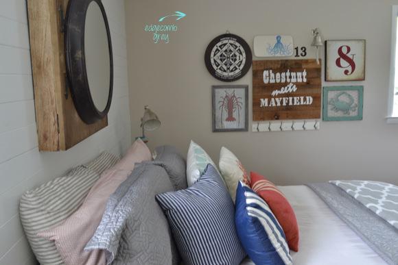 Edgecomb Grey bedroom